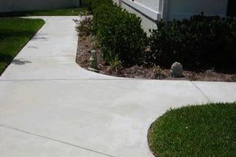 concrete sidewalk pathway