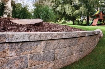 new retaining wall installation