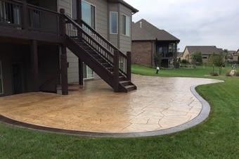 stamped concrete patio installation