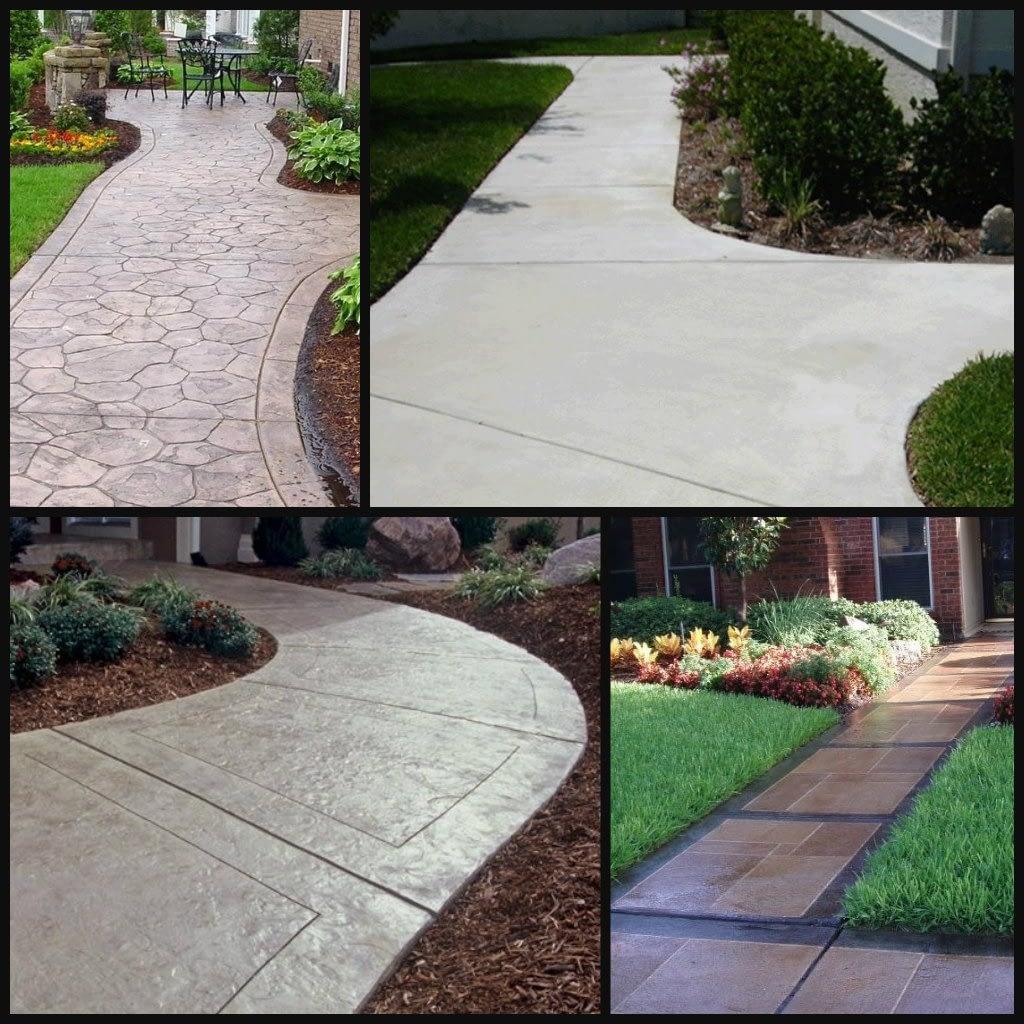 concrete walkways paths