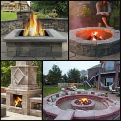 Stone Fire Pits Outdoor Seating